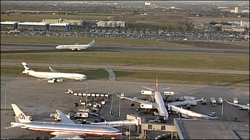 Aircraft at Heathrow Airport
