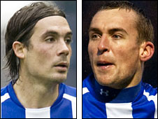 Kilmarnock players Danny Invincibile and James Fowler