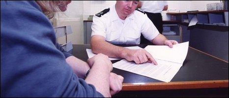 Police custody image - pic courtesy PSNI