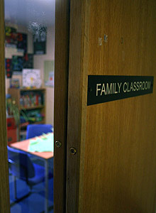 One of the family classrooms