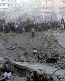 Remains of house where Said Siyam was hiding when hit by an Israeli missile (15 January 2009)