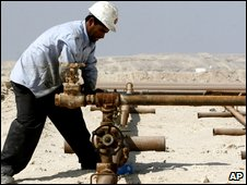 Oil worker in Bahrain