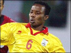 Benin midfielder Jonas Oketola