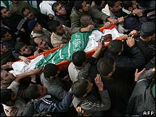 Body of Said Siyam is carried through Gaza on 16/1/09