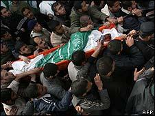 Body of Said Siyam is carried through Gaza on 16/1/09