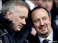 Rick Parry and Rafael Benitez
