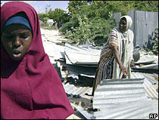 A Somali mother and daughter return after two years to Mogadishu to find their house destroyed