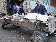 Gypsy scrap metal yard in Romania