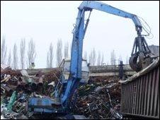 Scrapyard in Romania