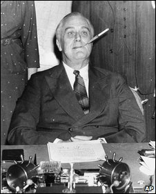 FDR with his cigarette holder