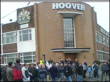 Workers outside Hoover