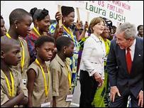 El presidente de EE.UU., George W. Bush, en Benin