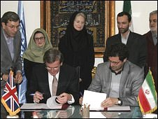 The deal is signed for the cultural exchange between Iran and the UK