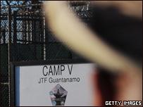Centro de detención en la base de Guantánamo