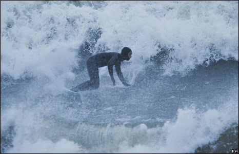 Surfer at Woolacombe