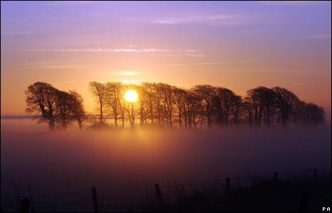 Sunrise in Gloucestershire