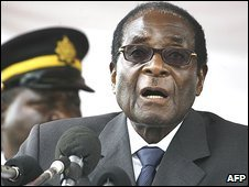Zimbabwean President Robert Mugabe on 23 December 2008