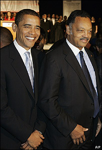 Barack Obama y Jesse Jackson