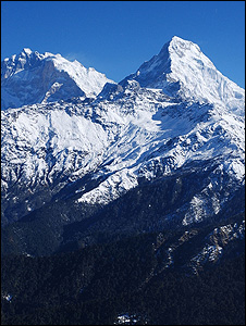 Himalayan mountains (Image: BBC)