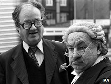John Mortimer and Rumpole of the Bailey star Leo McKern
