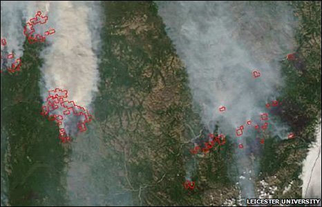 Indonesia, forest fires