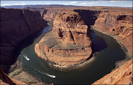 Low water levels at the Horseshoe Bend of the Colorado River near Page, Arizona (File picture)