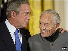 Andrew Wyeth and President Bush