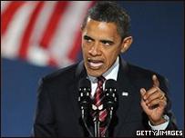 Barack Obama, presidente de EE.UU. dando un discurso