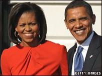 Barack Obama, presidente de EE.UU. y su esposa Michelle