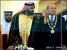 Ruler of Dubai, Sheikh Mohammed bin Rashid Al Maktoum, and Fifa president Sepp Blatter