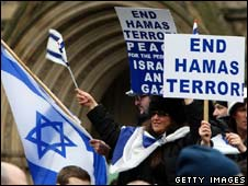 A pro-Israel demonstration in Manchester