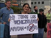 Venezolanos protestan en Israel