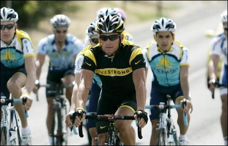 Lance Armstrong training in Adelaide, January 2009