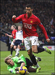 Jussi Jaskalainen, Bolton Wanderers; Cristiano Ronaldo, Manchester United