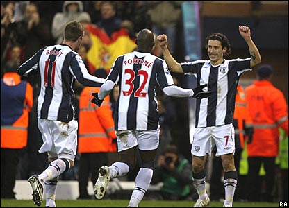 Chris Brunt, Marc-Antoine Fortune, Rob Koren, West Bromwich Albion