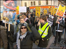 Protesters in Dundee