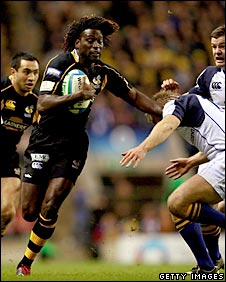 Paul Sackey played a major role in Wasps' sparkling try 