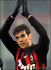 Kaka claps the Milan fans after the 1-0 win over Fiorentina