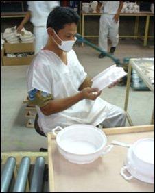 Indonesian worker