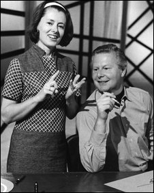 Tony Hart (right)
