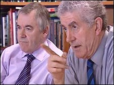 Rhodri Morgan (right) with deputy first minister Ieuan Wyn Jones