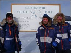 From left: Henry Worsley, Will Gow and Henry Adams