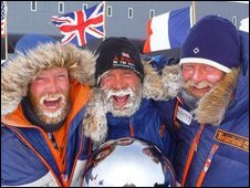 From left: Henry Adams, Henry Worsley and Will Gow 