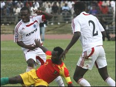 Kenya in action against Guinea