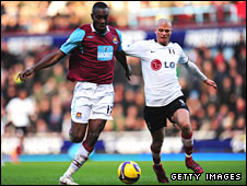 Carlton Cole and Paul Konchesky