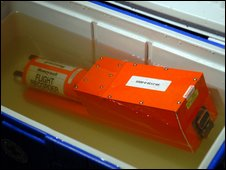 The cockpit flight recorder on display in New York, 18 January