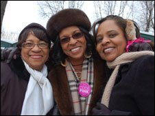 Sandy Clark, Karen Stickney and Sonja Jackson from Atlanta, Georgia.