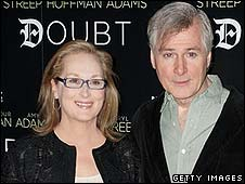 Meryl Streep with Doubt director John Patrick Shanley