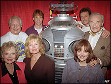 Left back: Bob May and the cast of Lost in Space