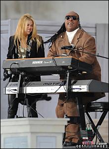 Shakira and Stevie Wonder